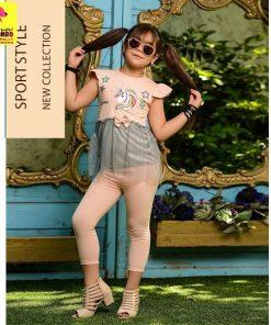 تیشرت شلوارک دخترانه یونیکورن